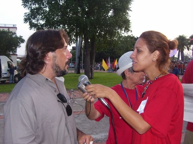 M. Papacci intervistato dalla TV cubana- Camaguey, 26/07/07