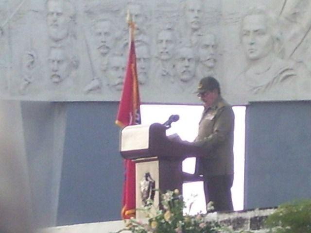 Raul Castro durante il discorso del Acto del 26 de Julio - Camaguey, 26/07/07