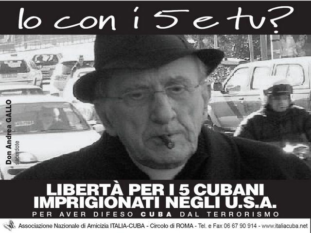 Don Andrea Gallo per i Cinque